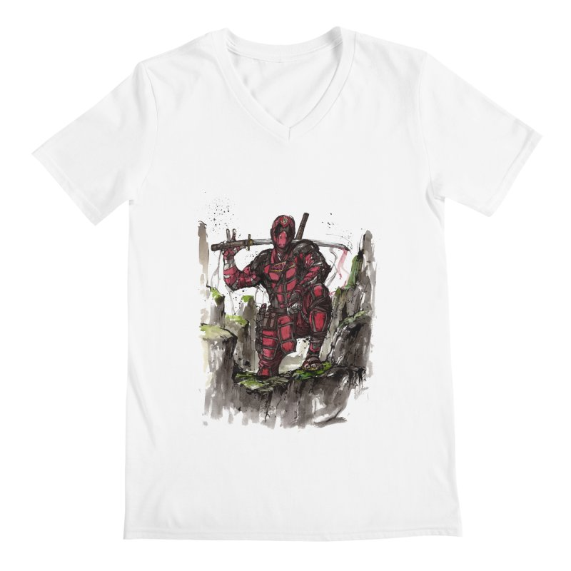 Deadpool samurai sumie Men's V-Neck by mycks's Artist Shop