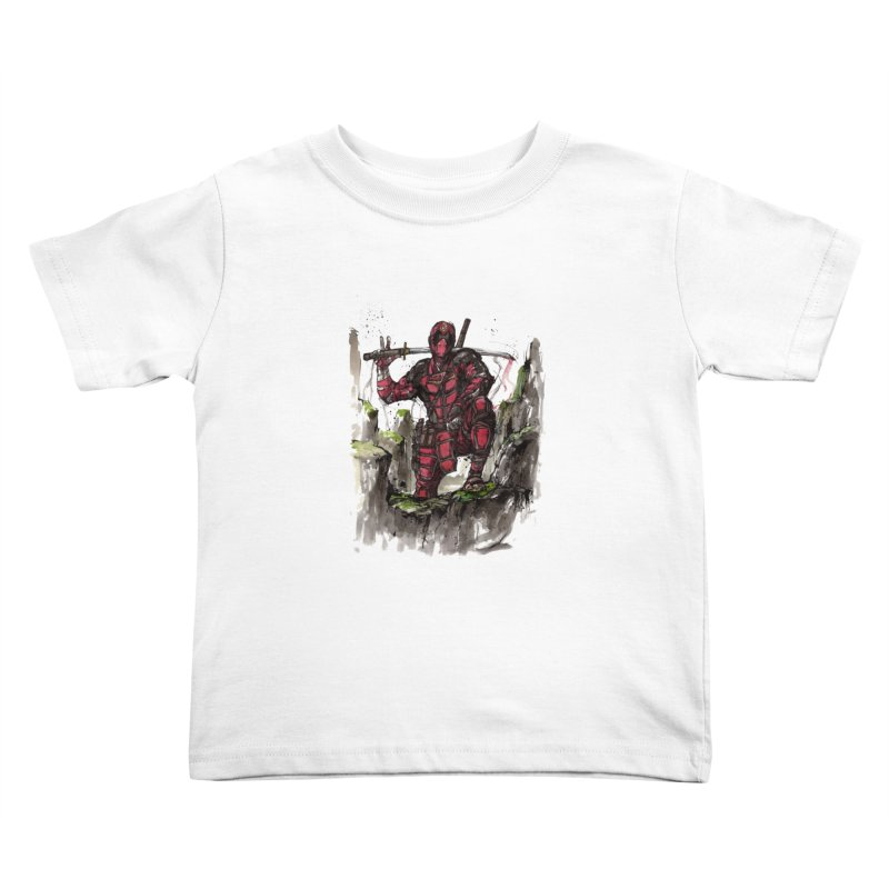 Deadpool samurai sumie Kids Toddler T-Shirt by mycks's Artist Shop