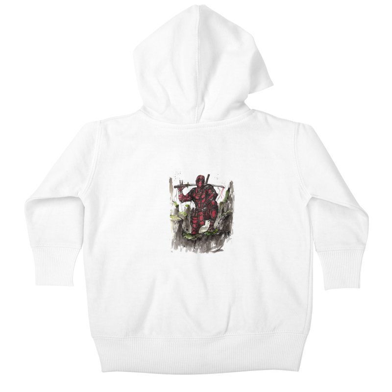 Deadpool samurai sumie Kids Baby Zip-Up Hoody by mycks's Artist Shop