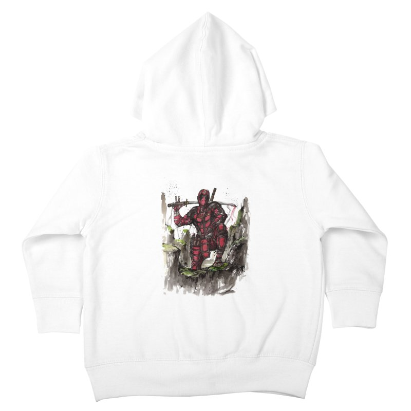 Deadpool samurai sumie Kids Toddler Zip-Up Hoody by mycks's Artist Shop