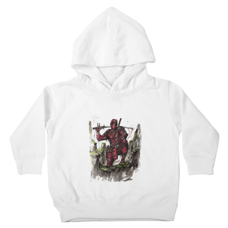 Deadpool samurai sumie Kids Toddler Pullover Hoody by mycks's Artist Shop