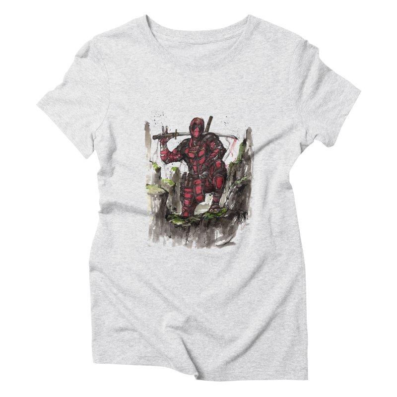 Deadpool samurai sumie Women's Triblend T-Shirt by mycks's Artist Shop