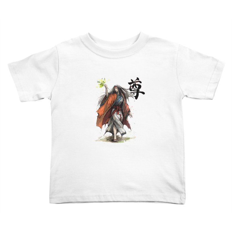 Himiko with Japanese Calligraphy Noble Sacred Kids Toddler T-Shirt by mycks's Artist Shop