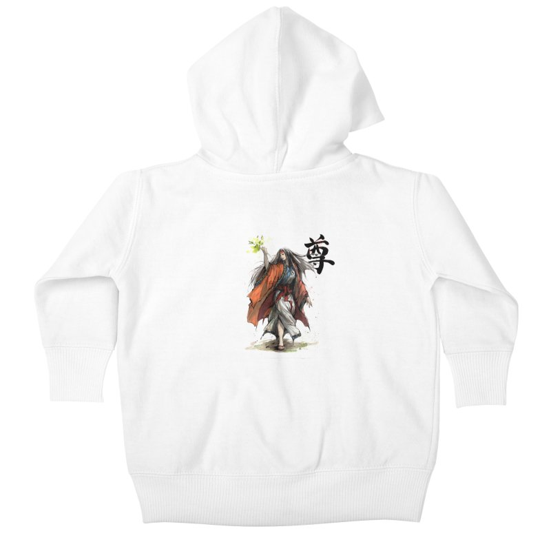 Himiko with Japanese Calligraphy Noble Sacred Kids Baby Zip-Up Hoody by mycks's Artist Shop
