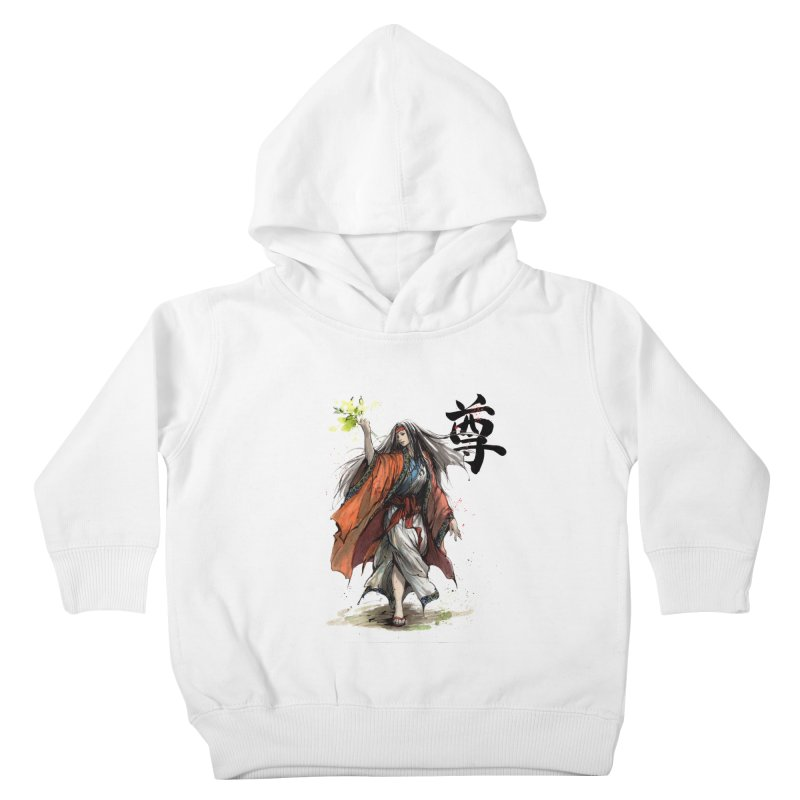 Himiko with Japanese Calligraphy Noble Sacred Kids Toddler Pullover Hoody by mycks's Artist Shop