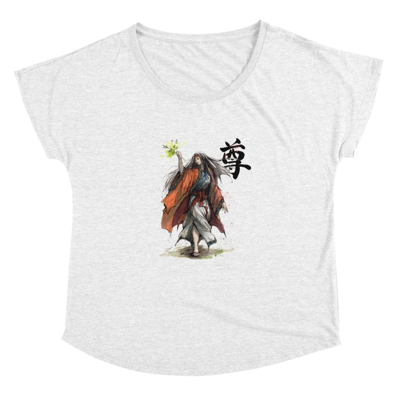 Himiko with Japanese Calligraphy Noble Sacred Women's Dolman by mycks's Artist Shop