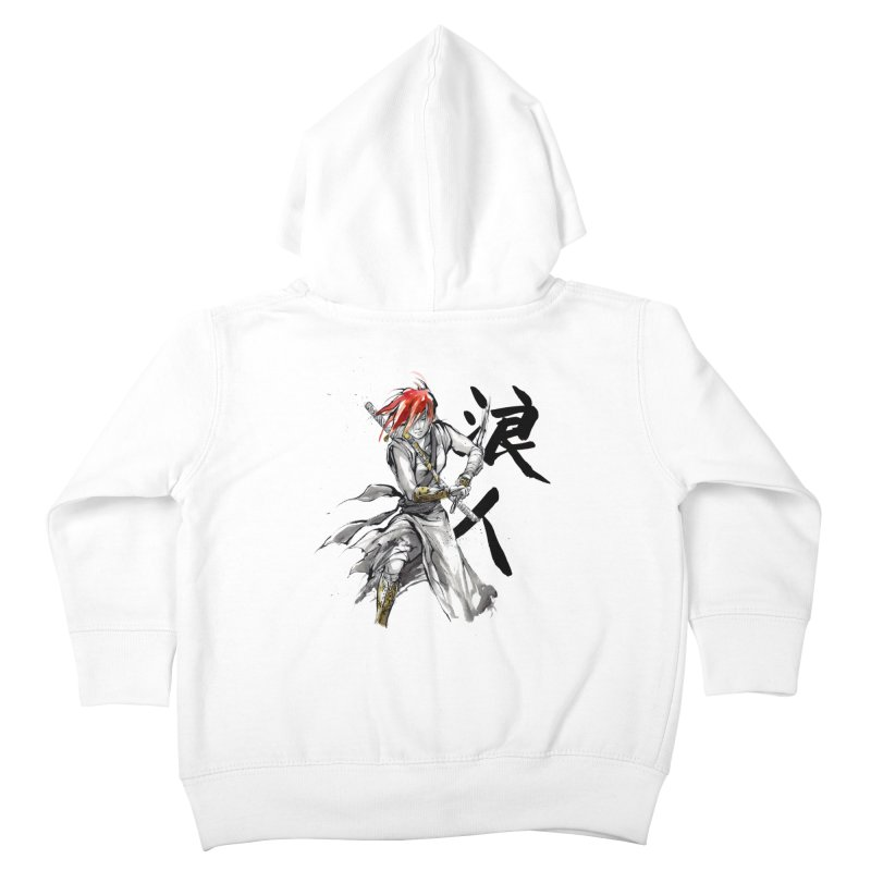 Female Ronin Samurai with Japanese Calligraphy Kids Toddler Zip-Up Hoody by mycks's Artist Shop