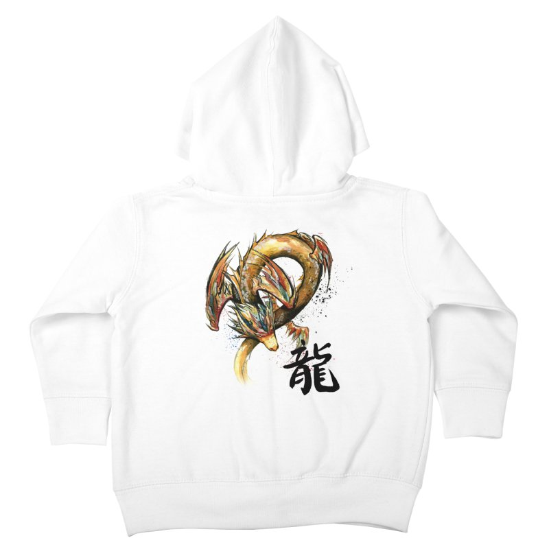 Golden Dragon with Japanese Calligraphy Kids Toddler Zip-Up Hoody by mycks's Artist Shop