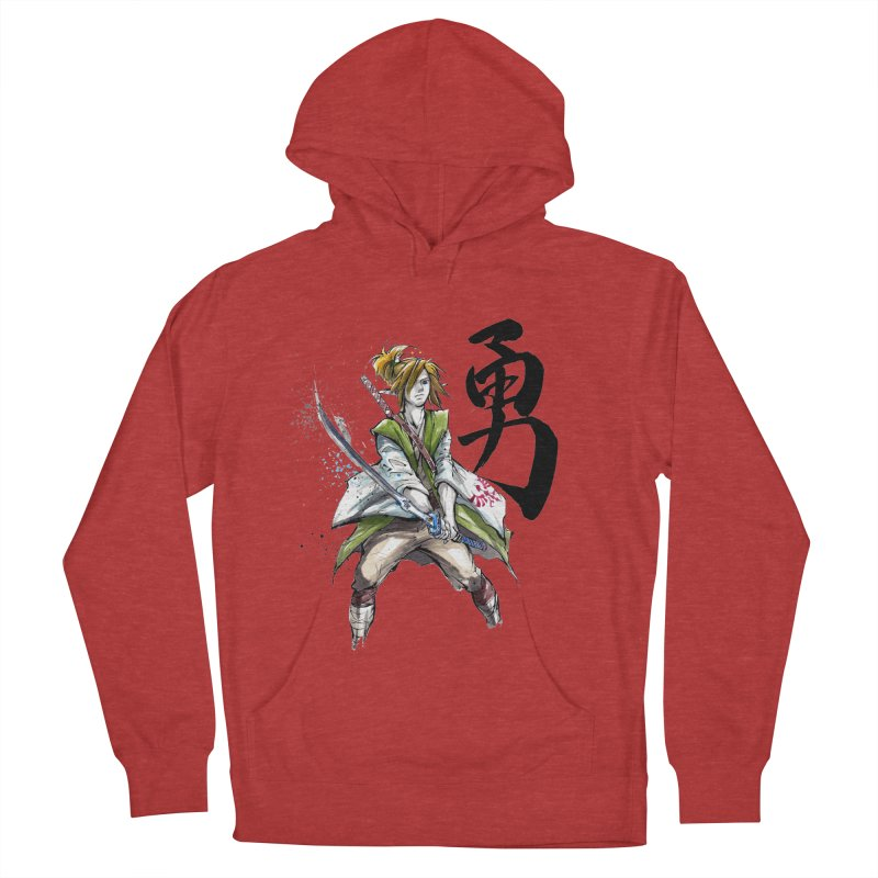 Samurai Link with Japanese Calligraphy Courage Women's Pullover Hoody by mycks's Artist Shop