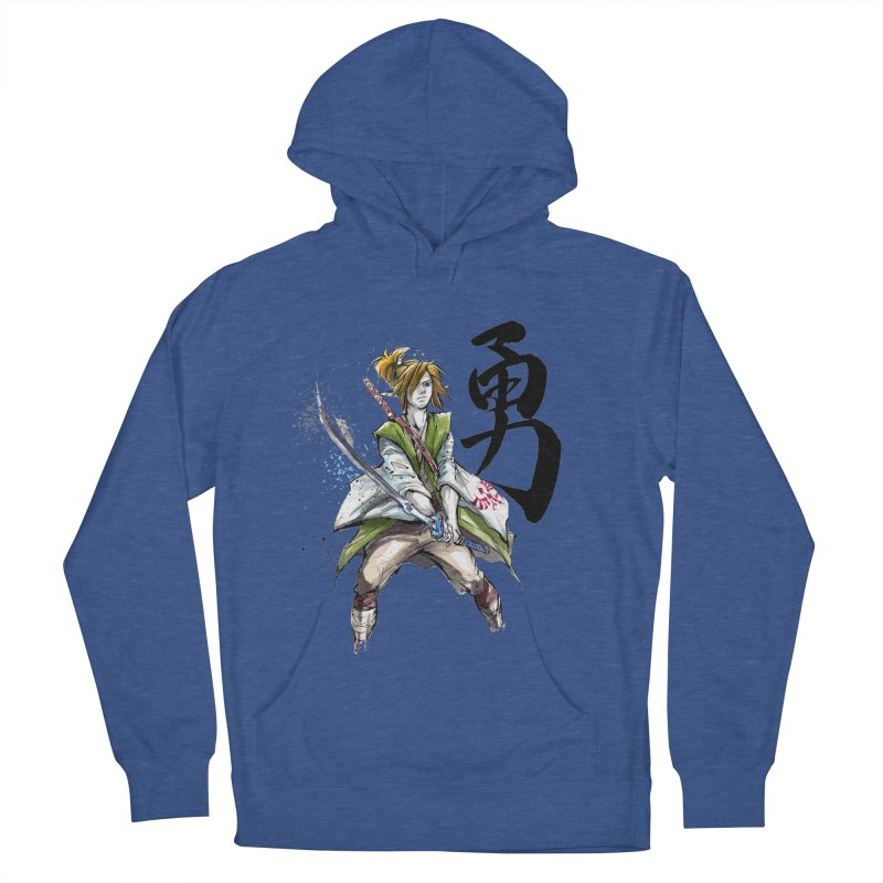Samurai Link with Japanese Calligraphy Courage Men's Pullover Hoody by mycks's Artist Shop