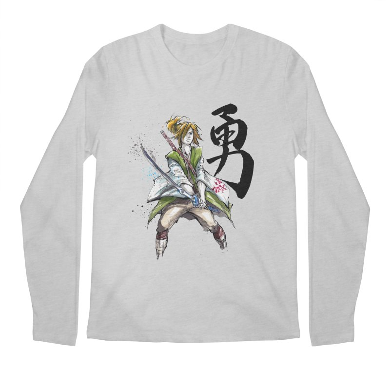 Samurai Link with Japanese Calligraphy Courage Men's Longsleeve T-Shirt by mycks's Artist Shop