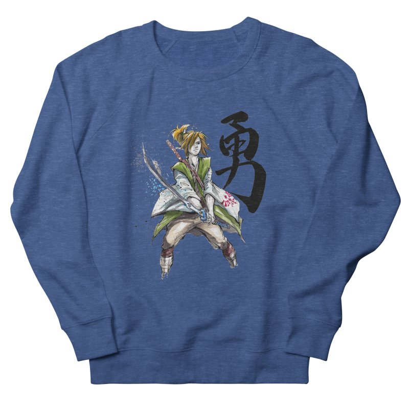 Samurai Link with Japanese Calligraphy Courage Women's Sweatshirt by mycks's Artist Shop