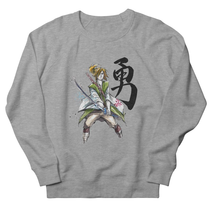 Samurai Link with Japanese Calligraphy Courage Women's Sweatshirt by mycks's Artist Shop