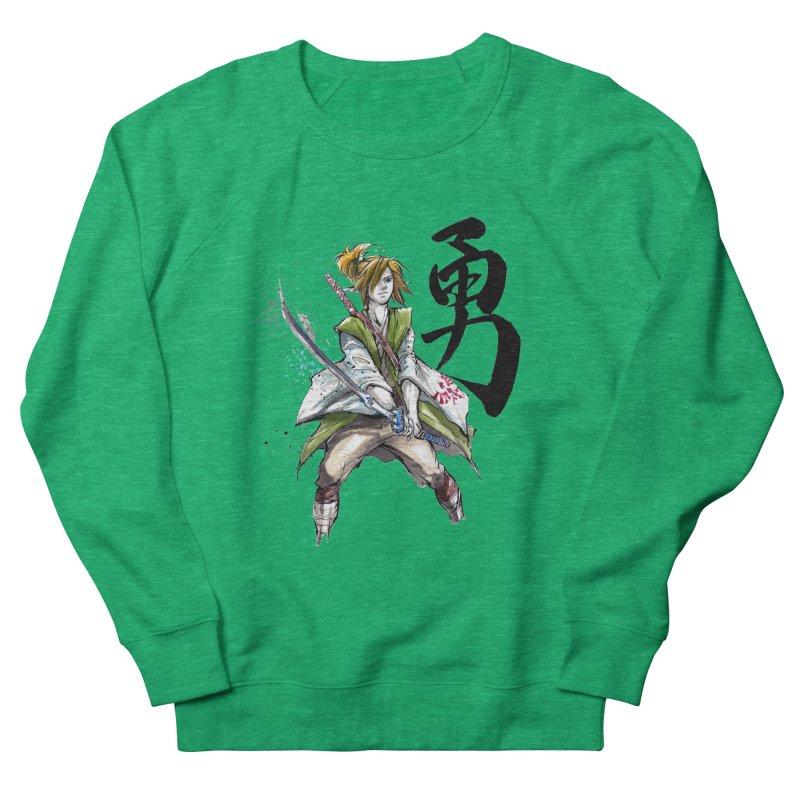 Samurai Link with Japanese Calligraphy Courage Men's Sweatshirt by mycks's Artist Shop