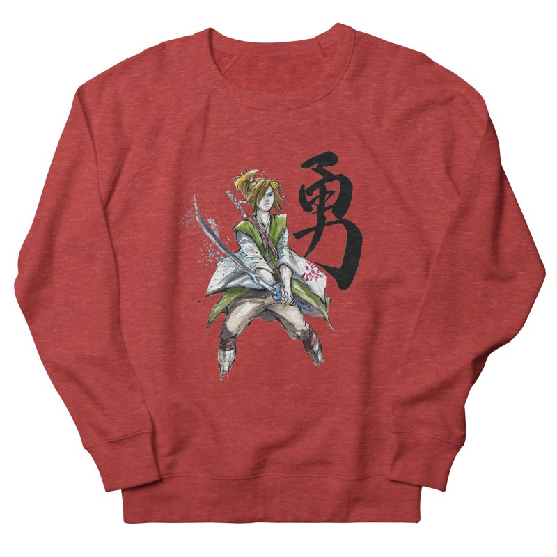 Samurai Link with Japanese Calligraphy Courage Men's Sweatshirt by mycks's Artist Shop