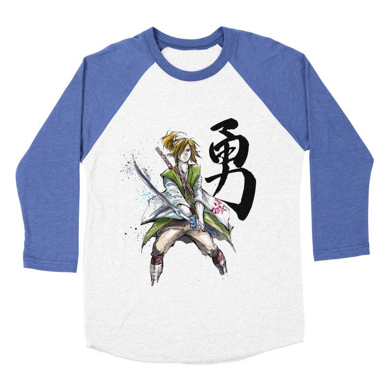 Samurai Link with Japanese Calligraphy Courage Women's Baseball Triblend T-Shirt by mycks's Artist Shop