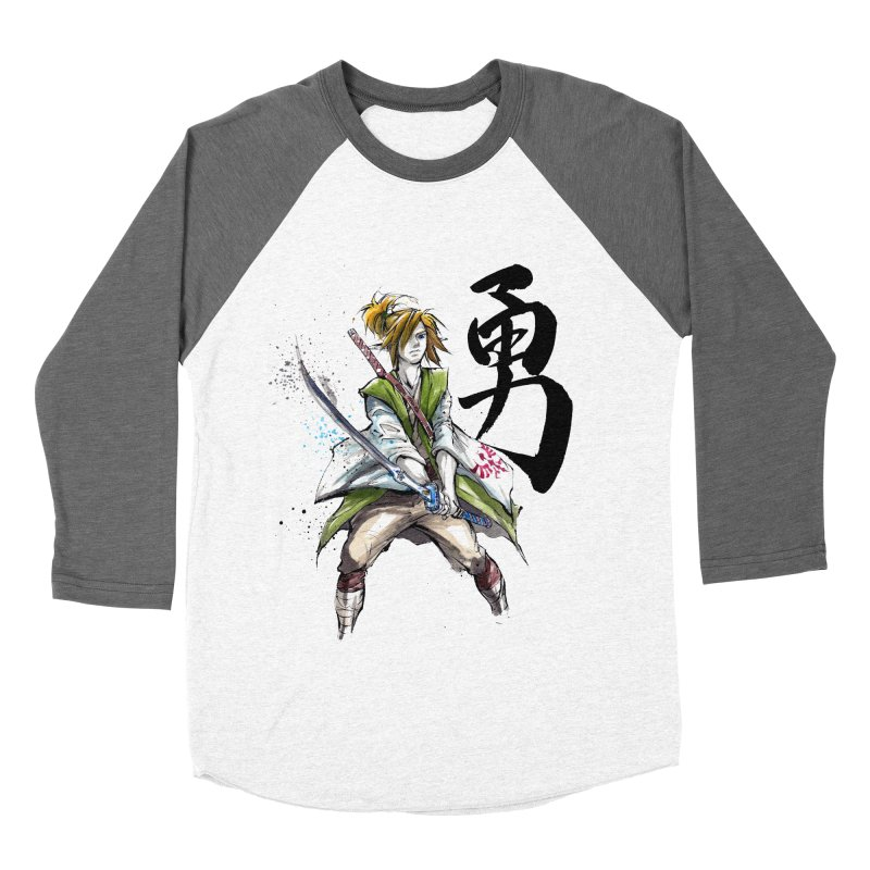 Samurai Link with Japanese Calligraphy Courage Women's Baseball Triblend T-Shirt by mycks's Artist Shop
