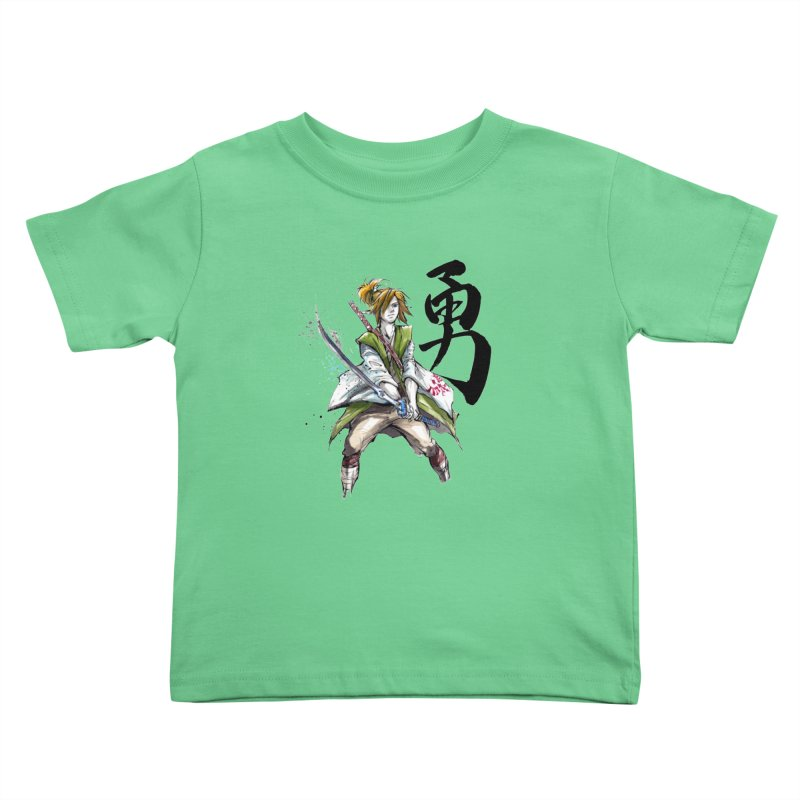 Samurai Link with Japanese Calligraphy Courage   by mycks's Artist Shop