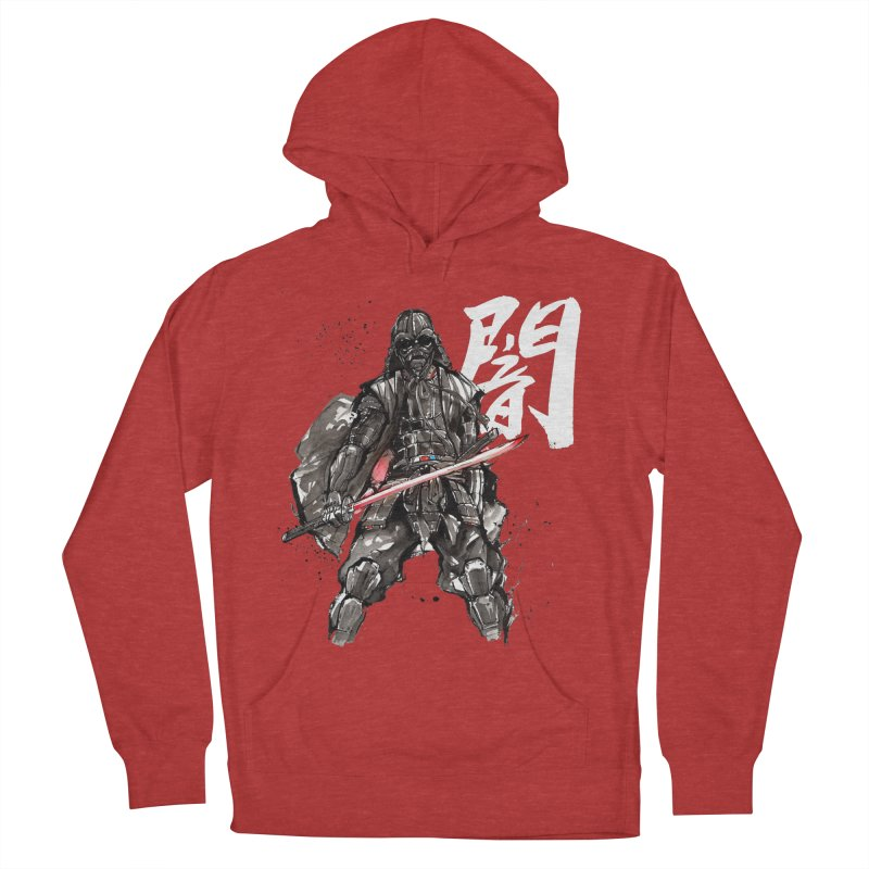 Samurai Vader with Calligraphy Darkness Women's Pullover Hoody by mycks's Artist Shop