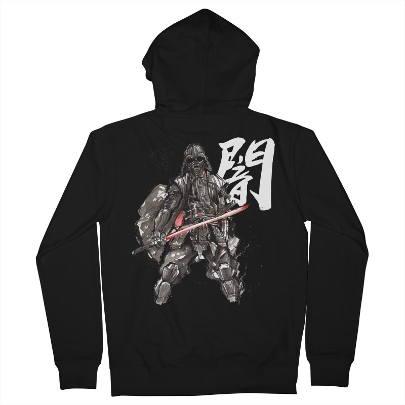Samurai Vader with Calligraphy Darkness Men's Zip-Up Hoody by mycks's Artist Shop