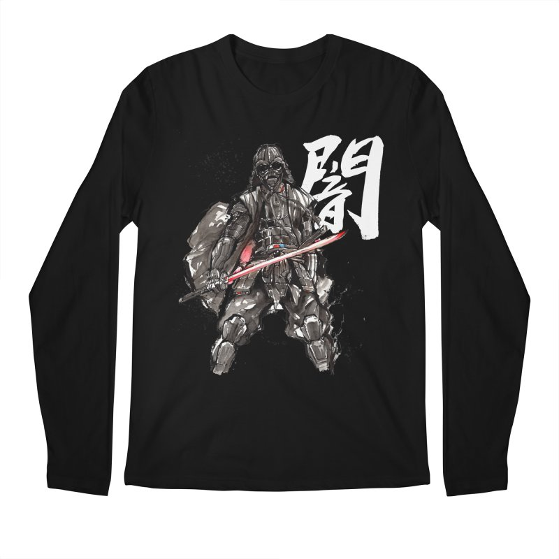 Samurai Vader with Calligraphy Darkness Men's Longsleeve T-Shirt by mycks's Artist Shop
