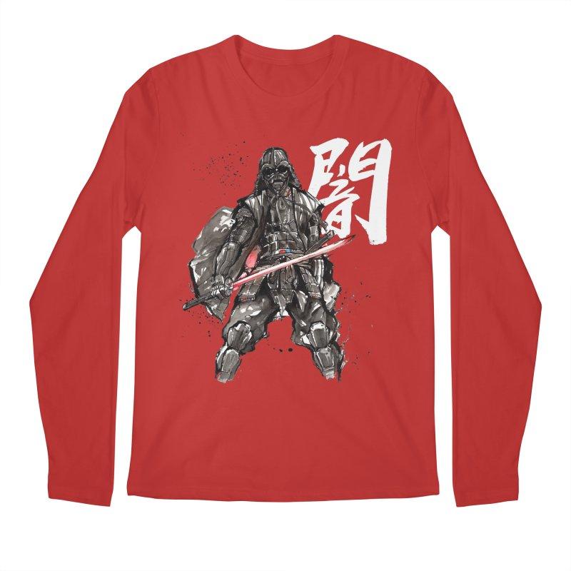 Samurai Vader with Calligraphy Darkness Men's Longsleeve T-Shirt by mycks's Artist Shop