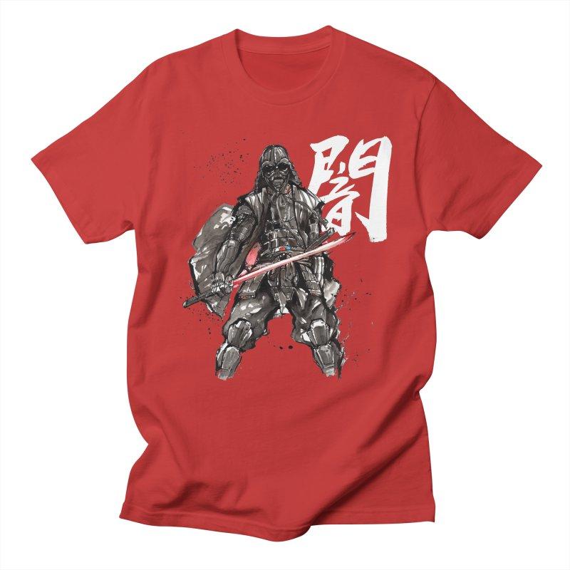 Samurai Vader with Calligraphy Darkness Men's T-shirt by mycks's Artist Shop