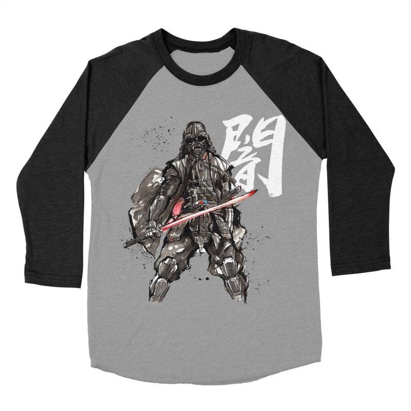 Samurai Vader with Calligraphy Darkness Women's Baseball Triblend T-Shirt by mycks's Artist Shop