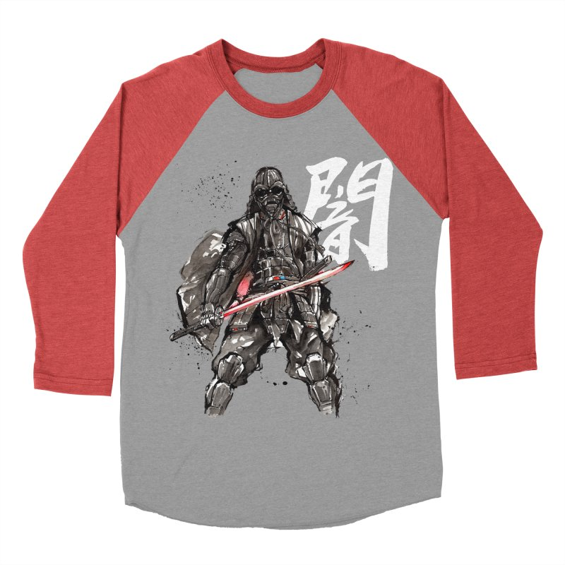 Samurai Vader with Calligraphy Darkness Men's Baseball Triblend T-Shirt by mycks's Artist Shop