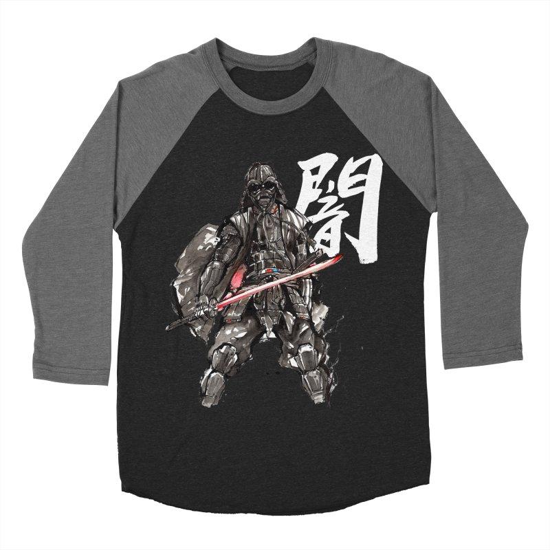 Samurai Vader with Calligraphy Darkness Men's Baseball Triblend T-Shirt by mycks's Artist Shop