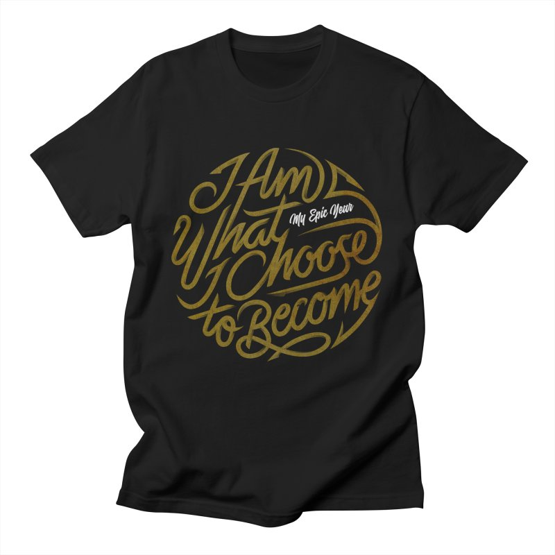 I Am - Collection (Gold/White) Men's T-Shirt by My Epic Year