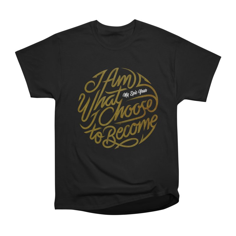 I Am - Collection (Gold/White) Men's Heavyweight T-Shirt by My Epic Year