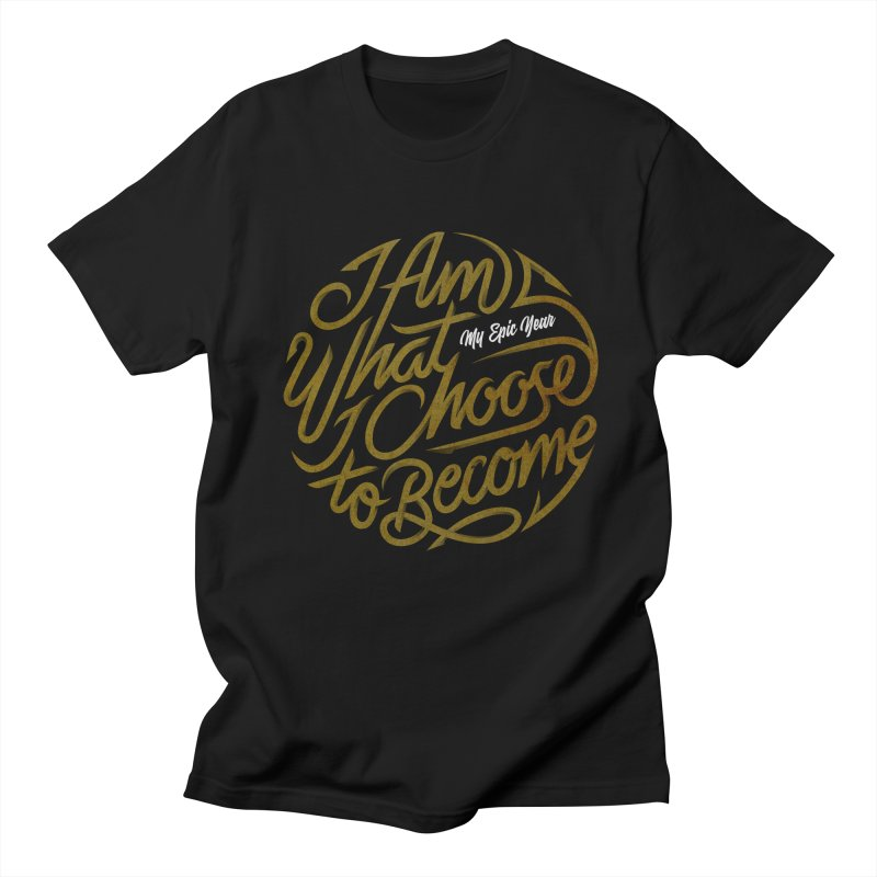 I Am - Collection (Gold/White) Women's Regular Unisex T-Shirt by My Epic Year