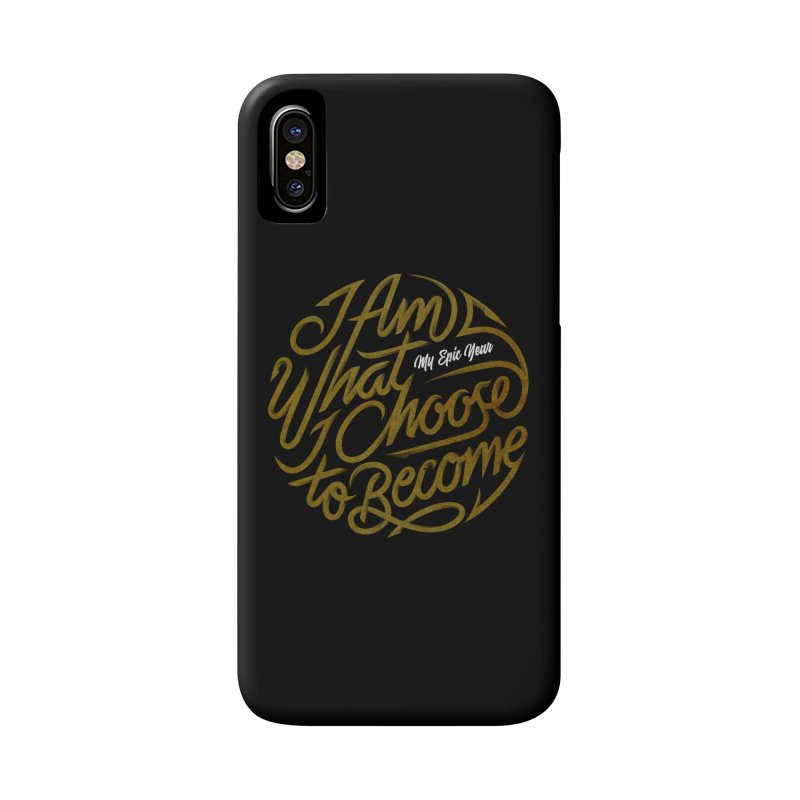 I Am - Collection (Gold/White) Accessories Phone Case by My Epic Year