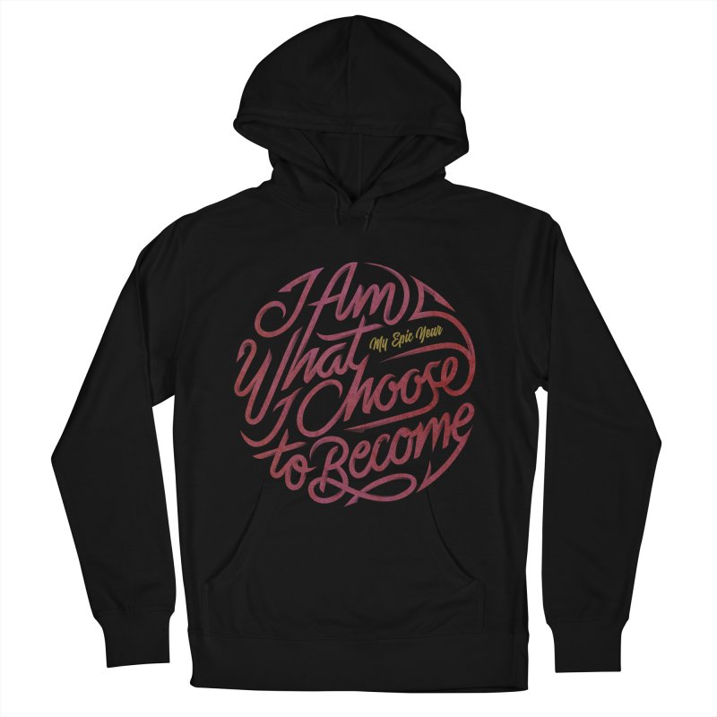 I Am - Collection (Pink/Gold) Women's French Terry Pullover Hoody by My Epic Year