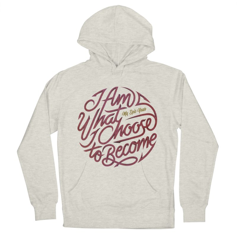 I Am - Collection (Pink/Gold) Men's French Terry Pullover Hoody by My Epic Year