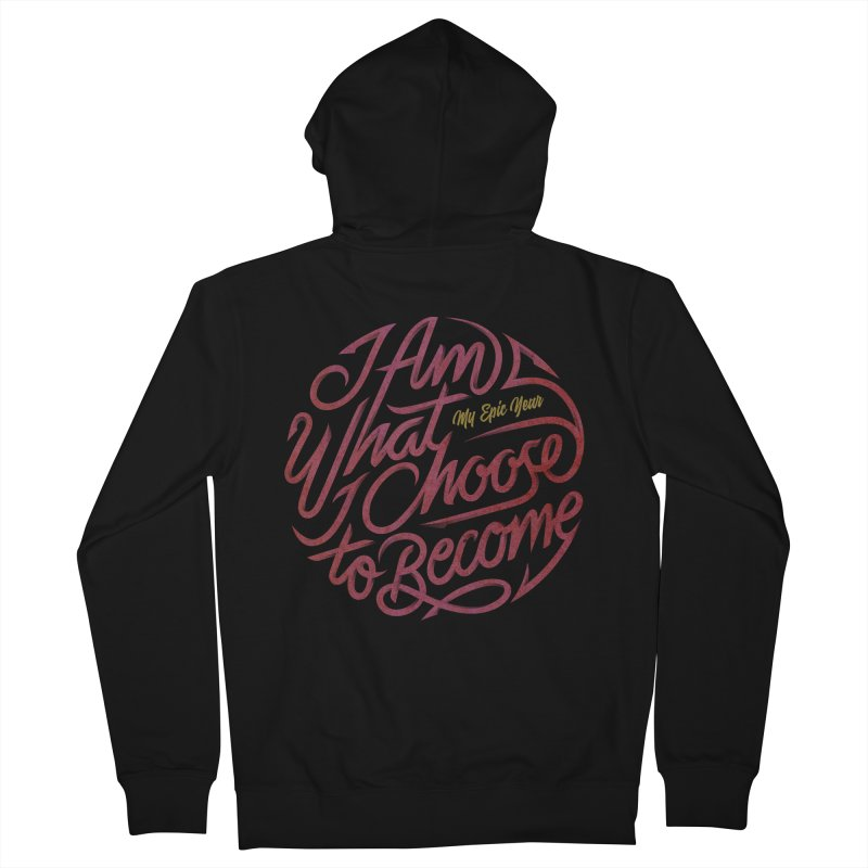 I Am - Collection (Pink/Gold) Women's French Terry Zip-Up Hoody by My Epic Year