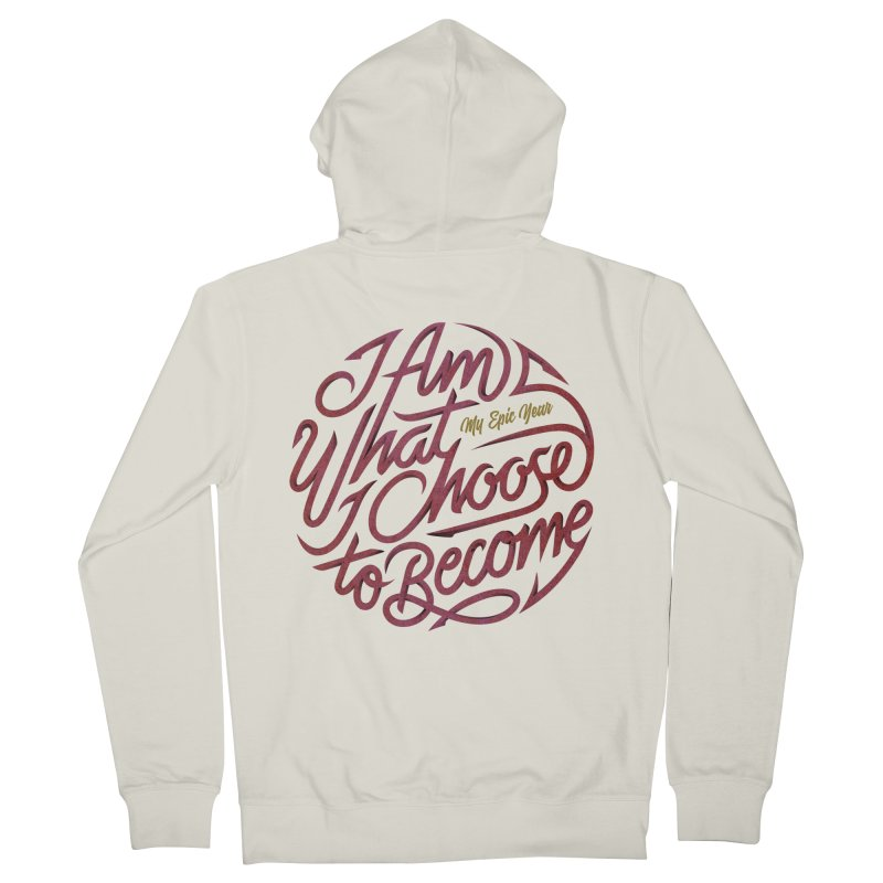 I Am - Collection (Pink/Gold) Men's French Terry Zip-Up Hoody by My Epic Year