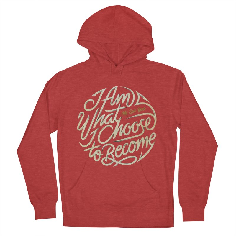 I Am - Collection (White/Gold) Women's French Terry Pullover Hoody by My Epic Year