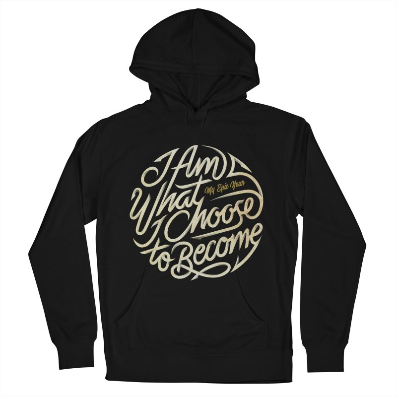 I Am - Collection (White/Gold) Men's French Terry Pullover Hoody by My Epic Year