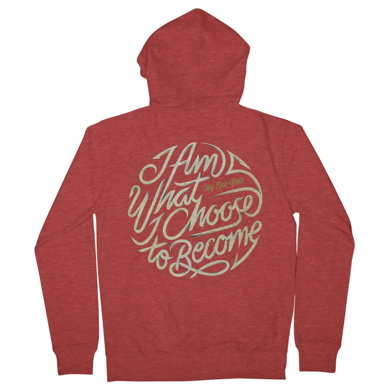 I Am - Collection (White/Gold) Women's French Terry Zip-Up Hoody by My Epic Year