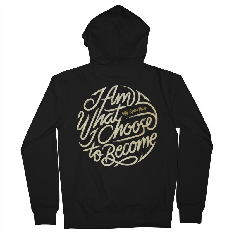 I Am - Collection (White/Gold) Men's French Terry Zip-Up Hoody by My Epic Year