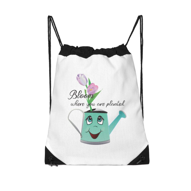 Bloom where you are planted. Accessories Bag by MyInspirationalGifts Artist Shop