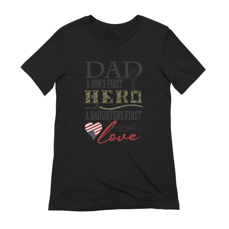 H E R O Women's Extra Soft T-Shirt by MyInspirationalGifts Artist Shop