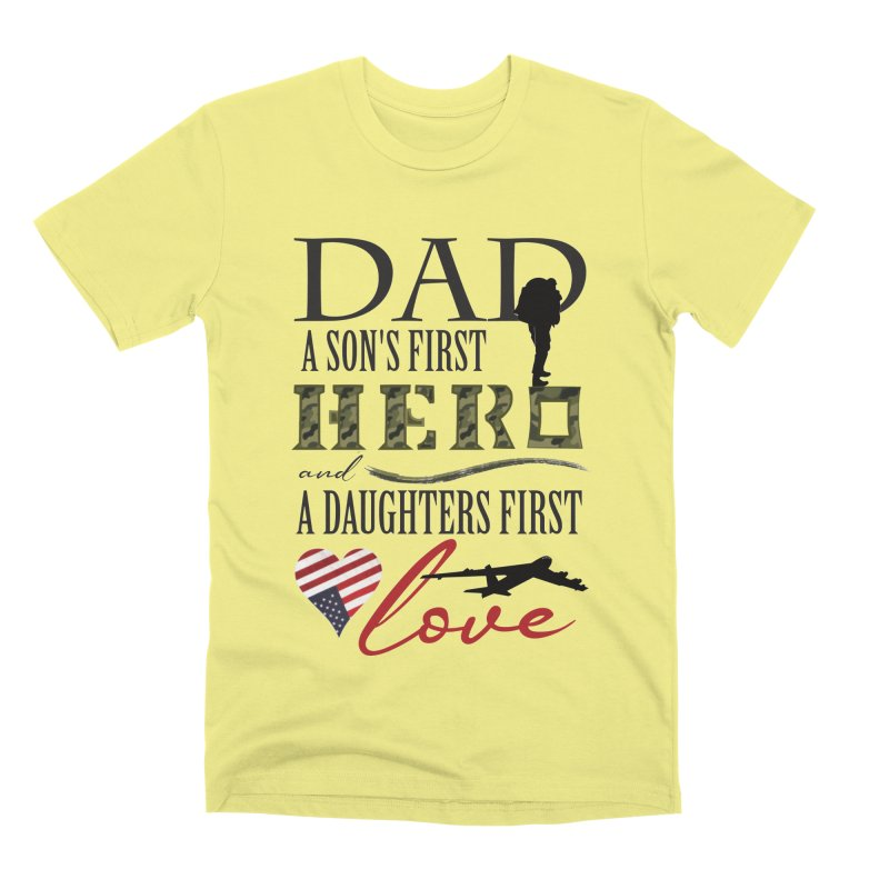 H E R O Men's Premium T-Shirt by MyInspirationalGifts Artist Shop