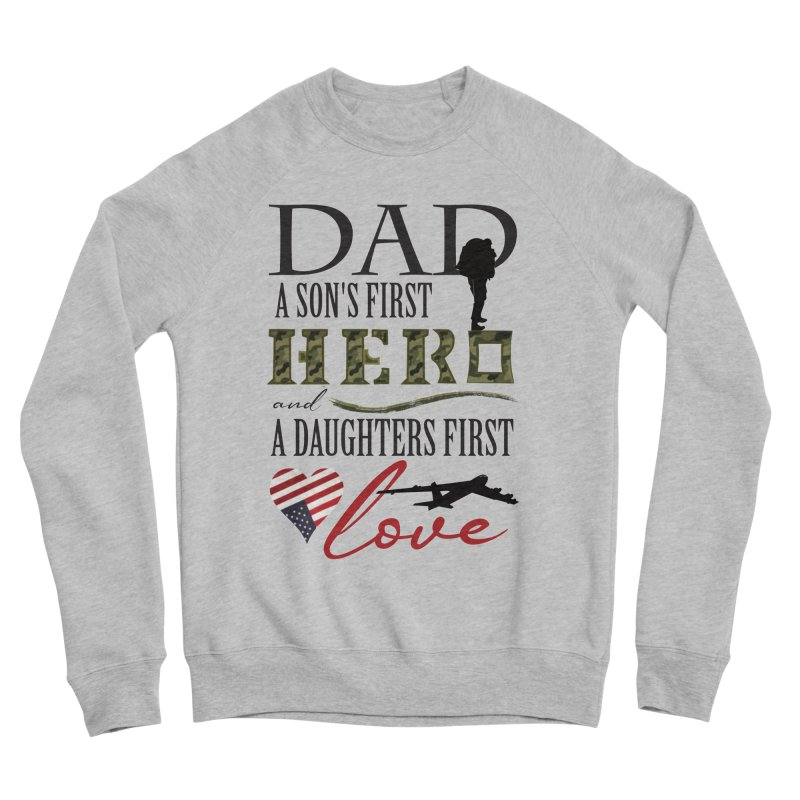 H E R O Men's Sponge Fleece Sweatshirt by MyInspirationalGifts Artist Shop