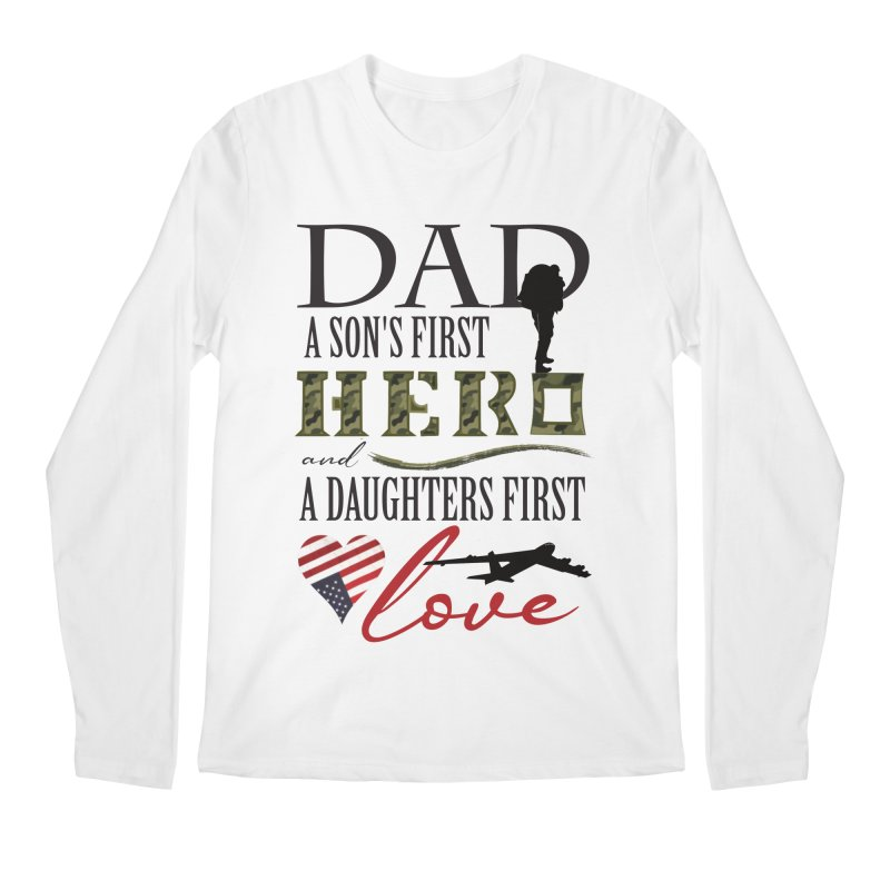 H E R O Men's Regular Longsleeve T-Shirt by MyInspirationalGifts Artist Shop