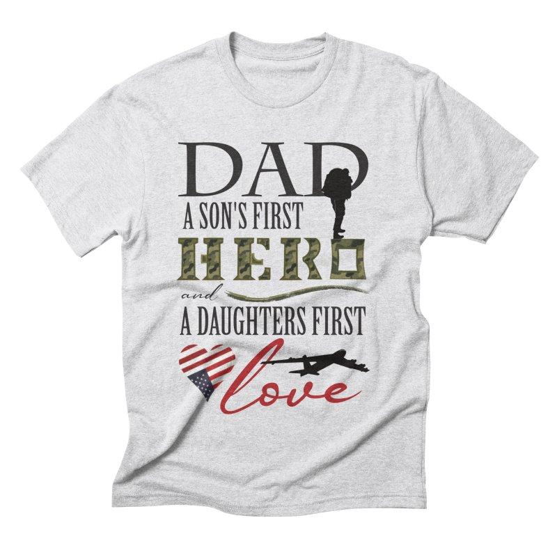 H E R O Men's Triblend T-Shirt by MyInspirationalGifts Artist Shop