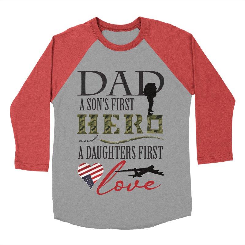 H E R O Women's Baseball Triblend Longsleeve T-Shirt by MyInspirationalGifts Artist Shop