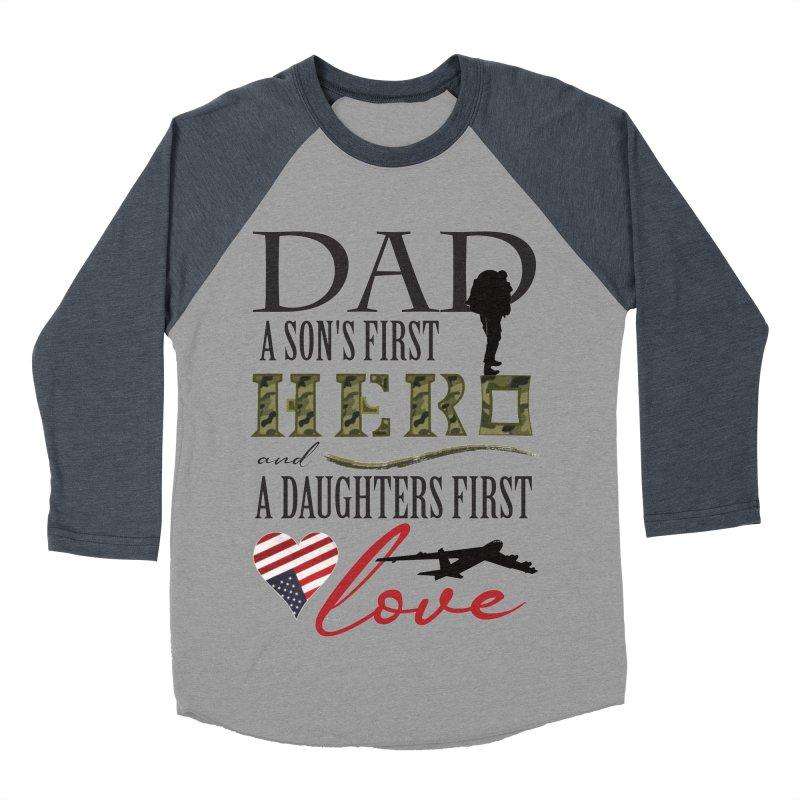 H E R O Men's Baseball Triblend Longsleeve T-Shirt by MyInspirationalGifts Artist Shop